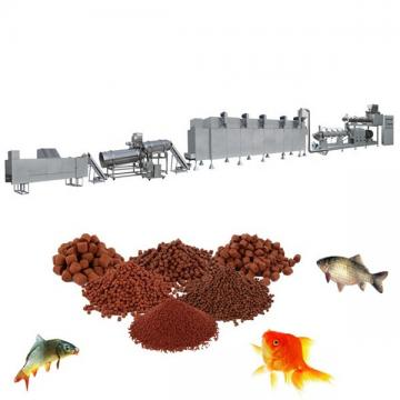 Dry and wet single or twin screw soybean corn animal dog pet food pellet floating fish feed extruder machine