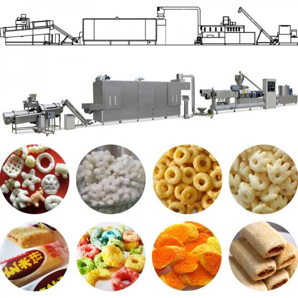 Commercial Corn flakes making machine / Corn Chips snack food extruder Production Line #2 image
