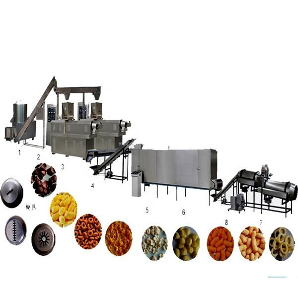 Commercial Corn flakes making machine / Corn Chips snack food extruder Production Line #1 image